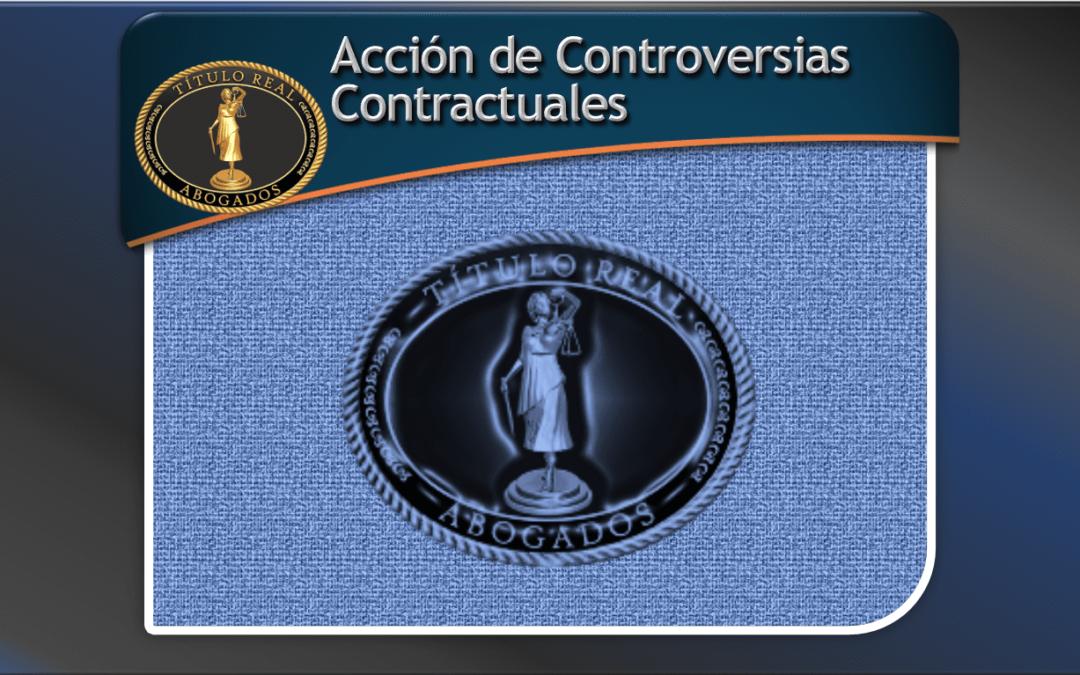 Acción de Controversias Contractuales