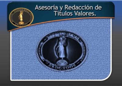 Asesoría y Redacción de Títulos Valores.