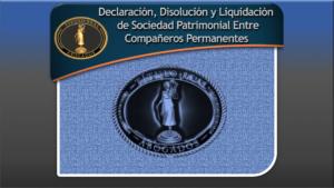Declaración, Disolución y Liquidación de Sociedad Patrimonial Entre Compañeros Permanentes
