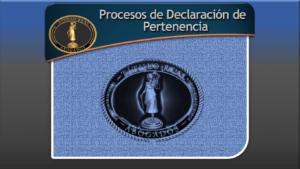 Procesos de Declaración de Pertenencia