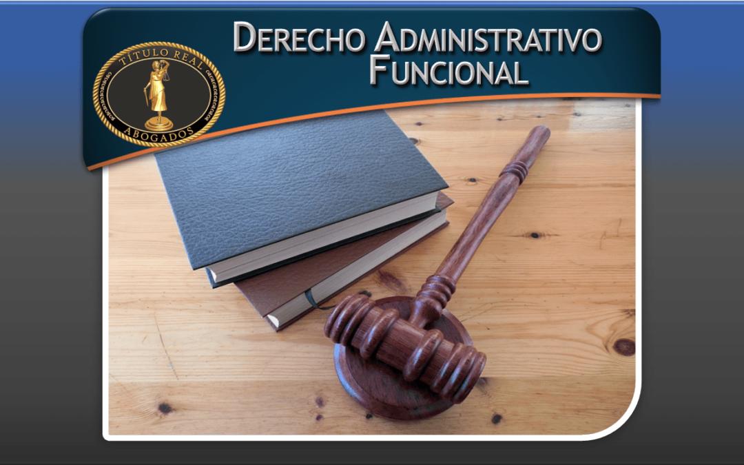 Derecho Administrativo Funcional