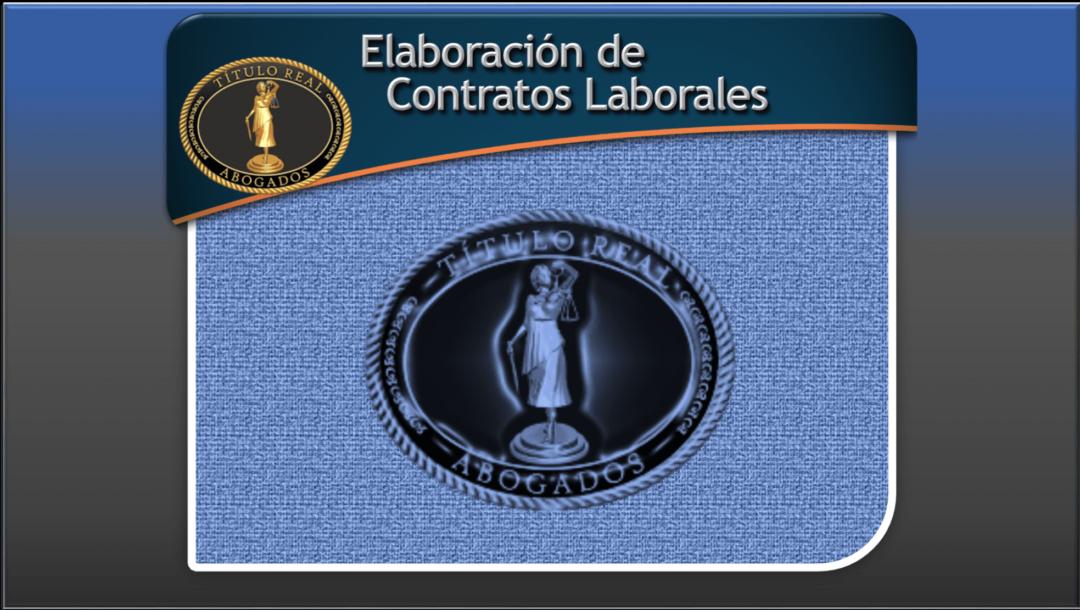 Elaboracion de contratos laborales