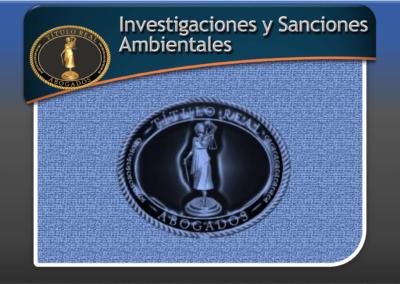 Investigaciones y Sanciones Ambientales