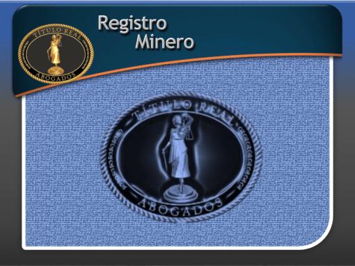 Registro Minero