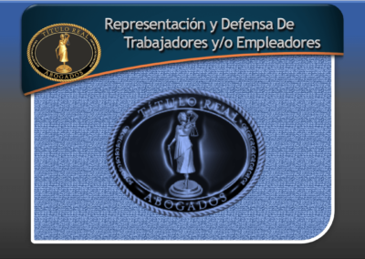 Representación y Defensa De Trabajadores y/o Empleadores.