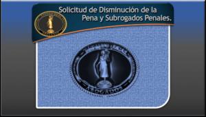 Solicitud de Disminución de la Pena y Subrogados Penales.